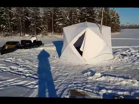 Зимняя палатка пингвин и печь экономка