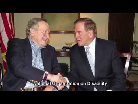 Tom Ridge hosts an interview with President George H.W. Bush in celebration of the 25th anniversary of the Americans with Disabilities Act.