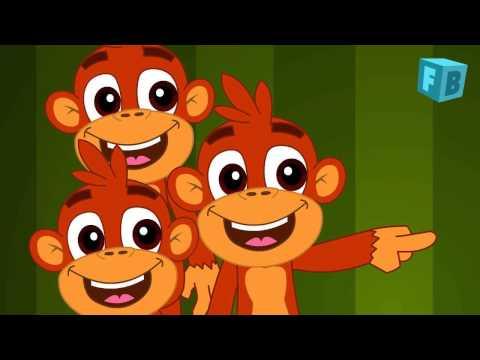 Five Little Monkeys Jumping On The Bed | Children Nursery Rhyme | Songs