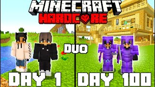 We Survived 100 Days In Hardcore Minecraft - Duo Minecraft Hardcore 100 Days