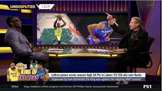 Skip Bayless reacts to LeBron James scores season-high 34 Pts in Lakers 113-106 win over Bucks