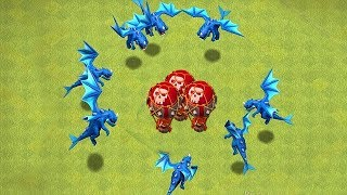 "The BEST War ATTACKs w/ GALADON!! ""Clash Of Clans"" youtuber war!"