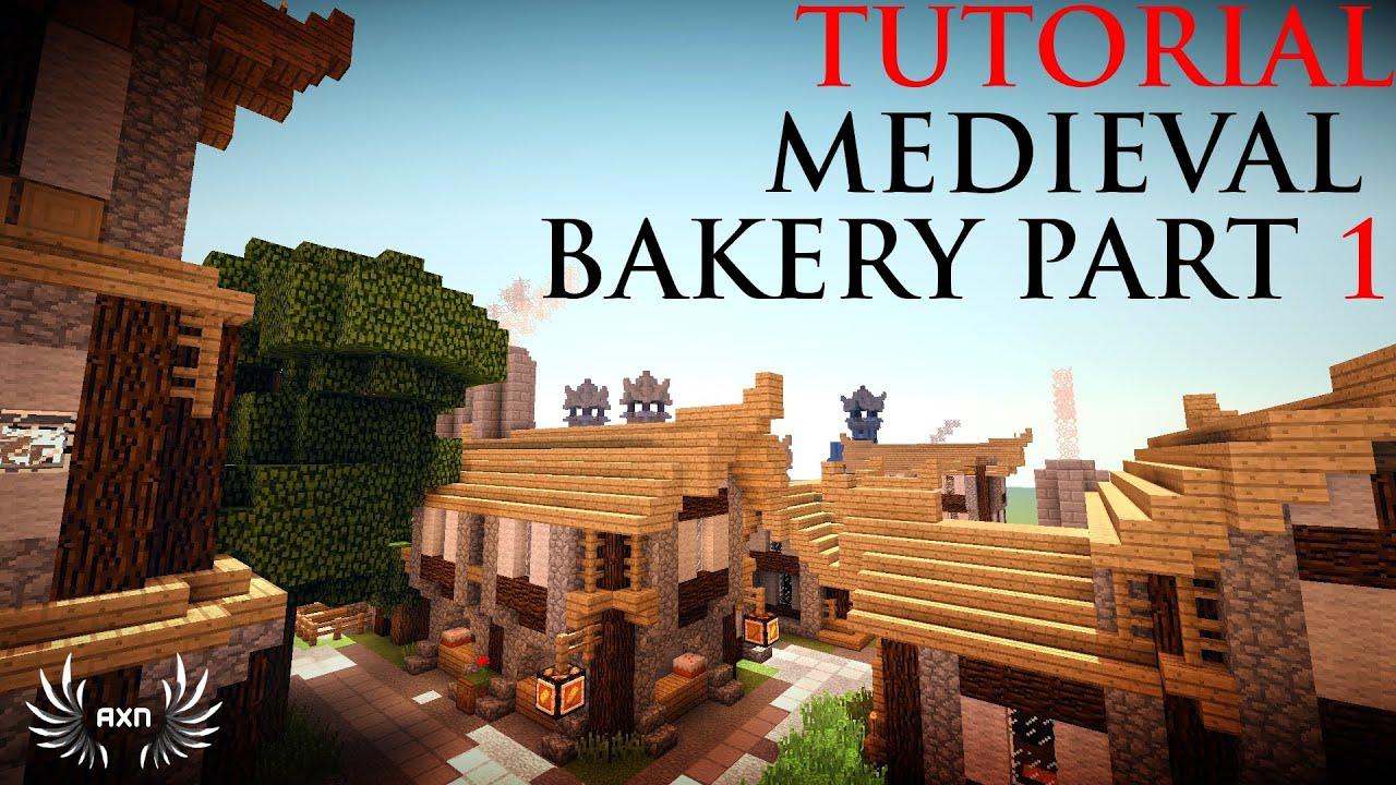 Minecraft Tutorials Medieval Bakery Part 1 2 Youtube