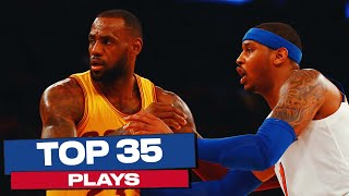 LeBron James' Top 35 Plays | NBA Career Highlights