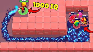 1000 IQ AMBER vs 0 IQ PLAYERS! Brawl Stars Wins & Fails #222