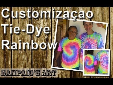 Customização em Tie Dye Rainbow