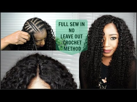 No-Part Sew in Braid Pattern with Sway Hair - KINKY TEXTURE ...