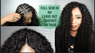 NO LEAVE OUT,  NO CLOSURE|| CROCHET METHOD|| SEW IN YOUR HAIR LIKE A PRO || FT ALI PEARL HAIR