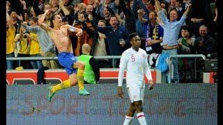 Zlatan Ibrahimovic - UNBELIEVABLE 30-yard overhead bicycle kick goal v England
