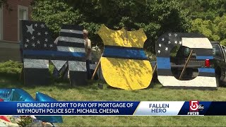 Fundraising effort to pay off mortgage of fallen Weymouth police officer
