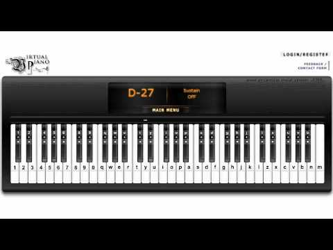 Metallica - Nothing Else Matters (Virtual Piano)