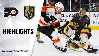 NHL Highlights | Flyers @ Golden Knights 1/2/20