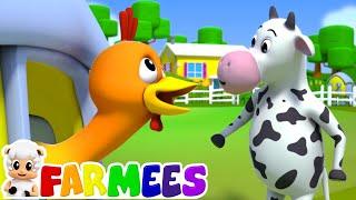 Cock A Doodle Do   Rimas para niños   Educación   Farmees Español   Dibujos animados