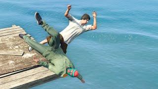 GTA 5 Epic ragdolls episode 102 [Funny Moments]