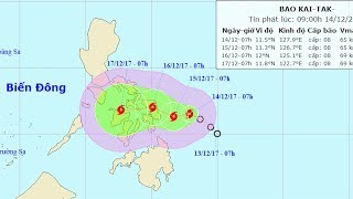 Tin bão mới nhất: Áp thấp nhiệt đới gần Biển Đông mạnh lên thành bão