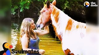 Wild Horse Adopted by Woman Becomes Best Friends with Her | The Dodo Soulmates