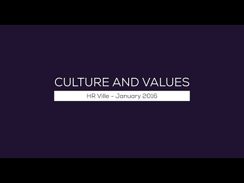 Culture & Values - HR Ville Jan 2016