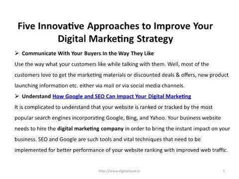 Five Innovative Approaches to Improve Your Digital Marketing Strategy