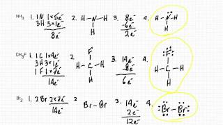 Drawing Lewis Dot Diagrams