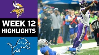 Vikings vs. Lions | NFL Week 12 Game Highlights