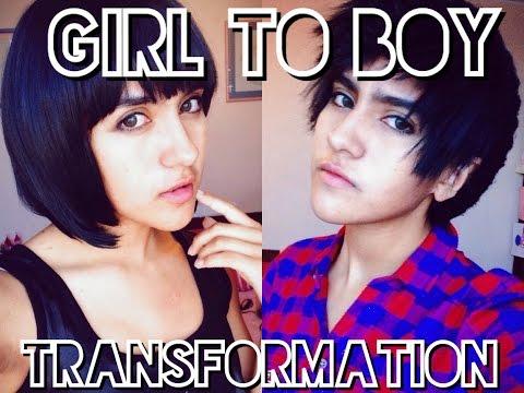 Girl to Boy Makeup Transformation - Crossplay