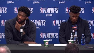 Joel Embiid & Jimmy Butler Postgame Interview - Game 6 | Raptors vs 76ers | 2019 NBA Playoffs