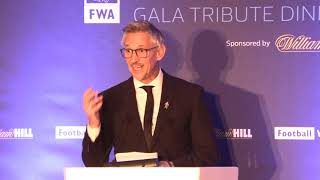 Gary Lineker delivers superb tribute speech to Gareth Southgate