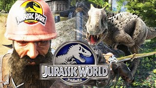 ESCAPE DE DINOSAURIOS Y GUARDIA DE PARQUE DE JURASSIC WORLD 2 ARK PARK