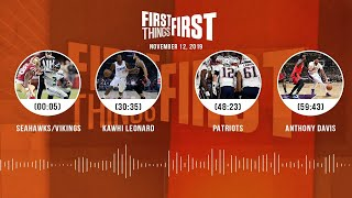 Seahawks/Vikings, Kawhi Leonard, Patriots, AD | FIRST THINGS FIRST Audio Podcast