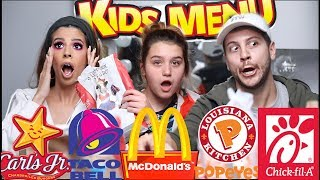 EXTREME FAST FOOD KIDS MEALS MUKBANG | LAURA LEE & NIECE