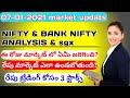 daily stock market updates in telugu| daily market updates in telugu|as on date 07-01-2021 nifty