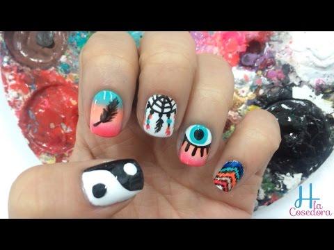 Decorado De Unas Atrapasuenos Nail Art Hippie Yana