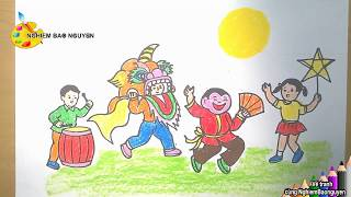Vẽ tranh Tết trung thu/How to draw Mid-Autumn Festival