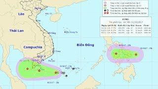 Tin Áp Thấp Nhiệt Đới  : Ngày 2-11, xuất hiện vùng áp thấp đi vào Biển Đông
