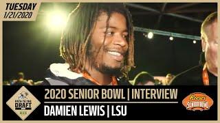 LSU OL Damien Lewis 2020 Senior Bowl Interview   New Orleans Saints