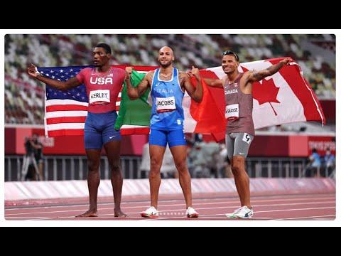 MARCELL JACOBS nella leggenda ORO A TOKYO 2020 NEI 100mt  gara e intervista al Campione Olimpico