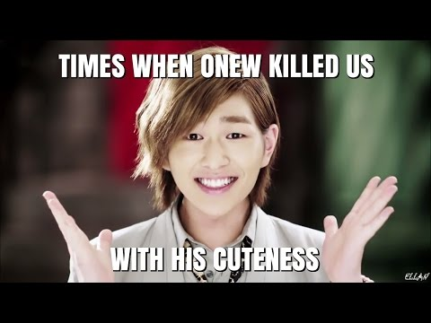 Times when Onew killed us with his cuteness