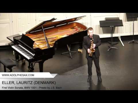 Dinant 2014 - Eller, Lauritz - First Violin Sonata, BWV 1001 - Presto by J.S. Bach