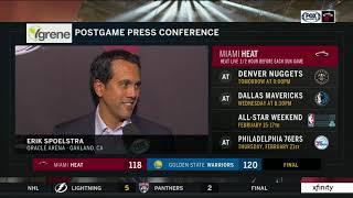 POSTGAME REACTION: Miami Heat at Golden State Warriors 02/10/19