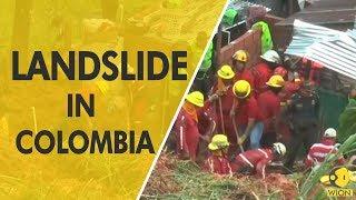 9 killed in landslide in Columbia..