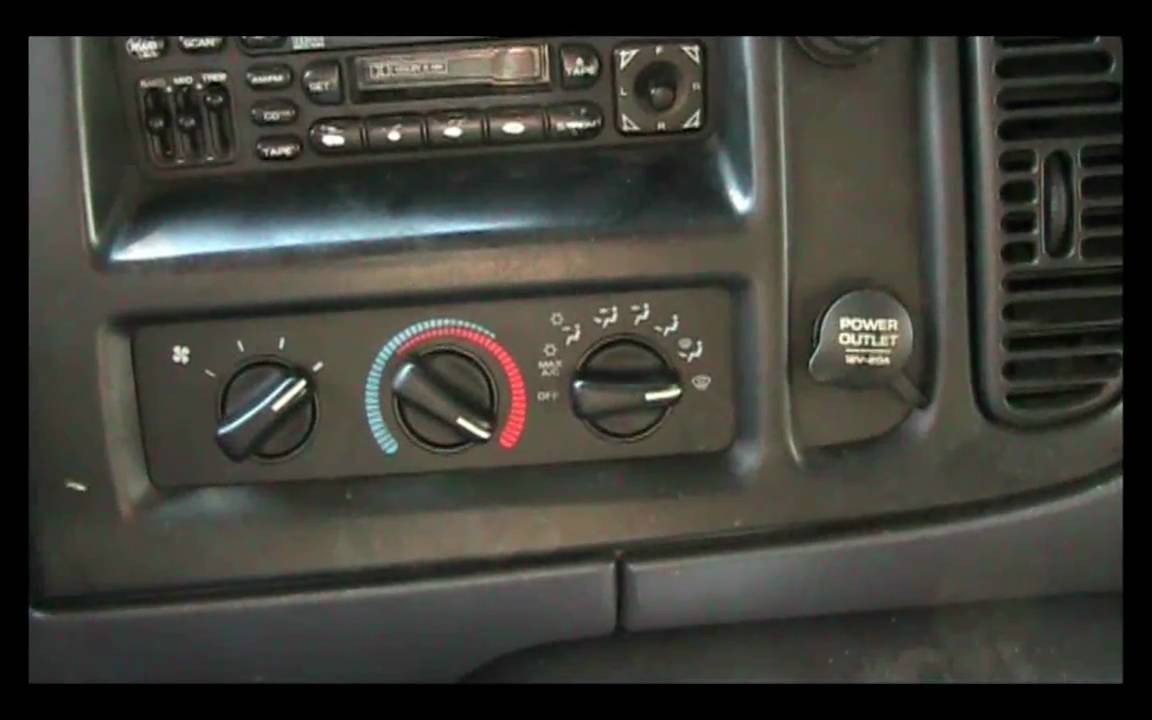 99 dodge ram 1500 radio wiring 1998 2003    dodge       ram    van blower switch repair guide youtube  1998 2003    dodge       ram    van blower switch repair guide youtube