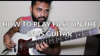 HOW TO PLAY FAST ON THE BASS GUITAR  - 3 Ultimate speed development tips