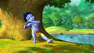 Indian krishna classical flute music - Deeply relaxing meditation yoga music for mind and body
