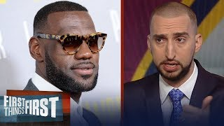 Nick Wright on why LeBron's leaving Cavs after Finals vs Warriors | NBA | FIRST THINGS FIRST