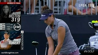 HUGE DRIVES! LPGA's Emily Tubert Wins 2018 Tennessee Big Shots Long Drive Contest