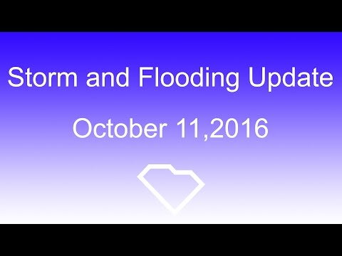 Governor's Storm and Flooding UPDATE: 10/11/16 - 12:00 PM