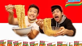 EATING INDOMIE FOR THE  FIRST TIME