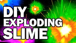DIY Exploding Slime - Collab FAIL!!! w/CRH - Man Vs Slime #2