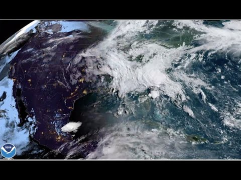 Tropical Storm Bertha seen from space - SpaceX Demo-2 launch impact?
