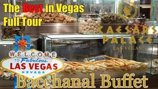 The Best Buffet in Las Vegas @ Caesars Palace Bacchanal Buffet | Full Dinner Tour